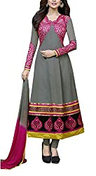 The Magical Thread Women's Georgette Unstitched Dress Material (MR-DN043_Multicolor_Free Size)
