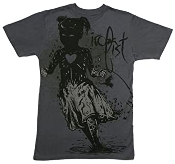 Fallout Girl Mens S/S T-shirt in Charcoal by Iron Fist