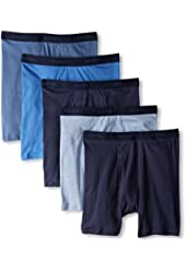 Hanes Men's Classics Dyed Boxer Brief - Colors May Vary (Pack of 5)