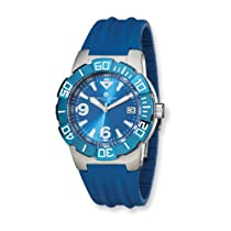 Charles Hubert Stainless Steel Case Blue Dial/Blue Strap Watch