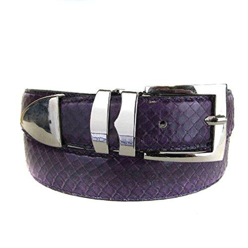 Bltby-Snks-10-30 - Plum - Boys Snake Skin Bonded Leather Belt