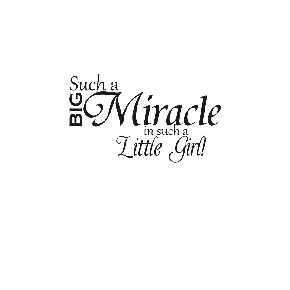 Such a big miracle in such a little girl Vinyl Art