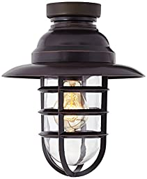 Marlowe Bronze Hooded Metal Cage Ceiling Fan Light Kit