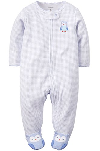 Carters Baby Girls Cotton Sleep & Play (9 Months, Blue Owl)