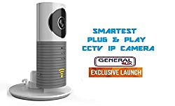 Clever Spydog World's Smartest Plug & Play Wireless Wifi CCTV IP Camera Smart Monitoring System Spy Cam Smart Monitoring System Blue - General Aux Special!