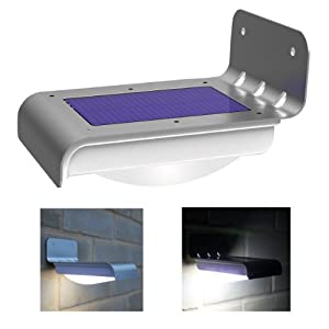 Frostfire 16 Bright LED Wireless Solar Powered Motion Sensor Light (Weatherproof, no batteries required) from Frostfire