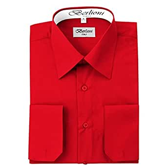 Red Solid Mens Dress Shirt At Amazon Men S Clothing Store