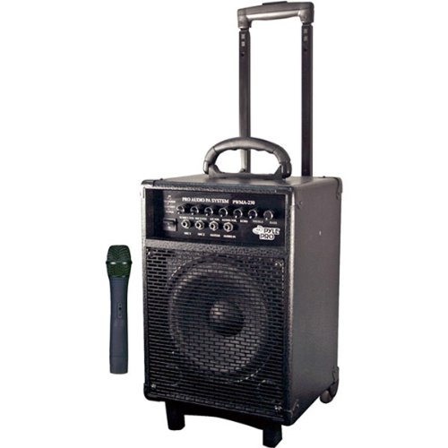 PYLE-PRO PWMA230 - 200W VHF Wireless Battery Powered PA System