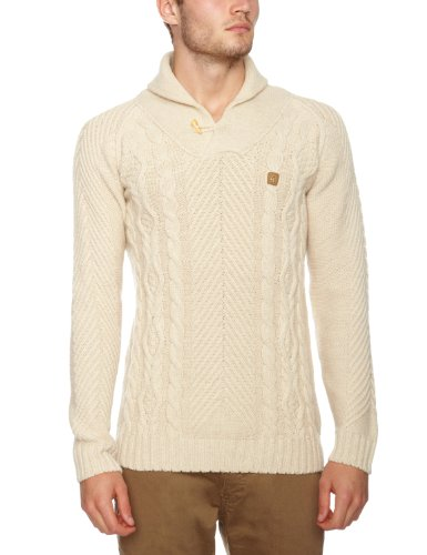 Gabicci Vanbasten Men's Jumper Ecru Small