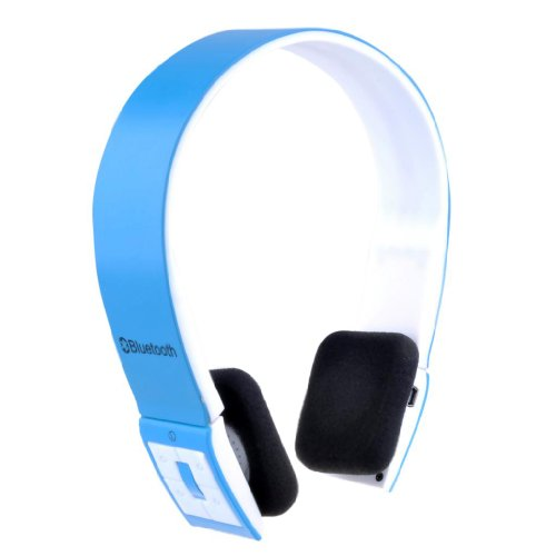 Patuoxun Blue Sports Wireless Stereo Bluetooth Headset Headphones for iPhone 5S 5C 5 4S iPad iPod Samsung Galaxy S 1 2 3 4 Note 1 2 3 other Bluetooth Phones Tablest PC--Over-the-Head Noise Canceling, Adjustable Headband, Supports Wireless Music Streaming, Hands-Free calling and Rechargeable Patuoxun Bluetooth Headsets autotags B00F871PTK