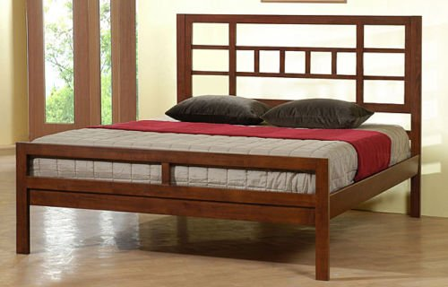 The Bellow Queen Size Bed Frames Are Perfect Platform Beds To Compliment Your Bedroom Furniture. Guaranteed!! The Walnut Cherry Color Enhances The Contemporary Bed Frame And Headboard Look And Feel. Not Included With This Wood Bed Frame Is The Mattress.