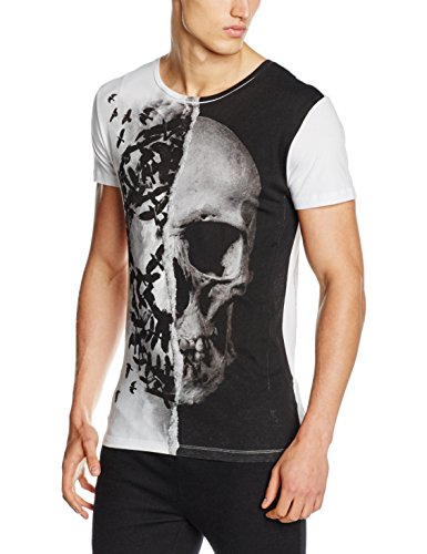 Religion Skull Crown, T-Shirt Uomo, Bianco (Bianco), Medium