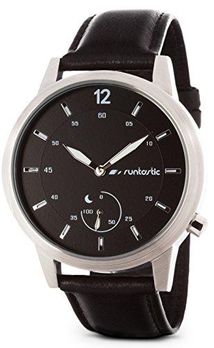 Runtastic MOMENT Classic Orologio con monitoraggio sonno e attività fisica (passi, distanza, calorie), Silver