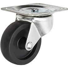 RWM Casters 31 Series Plate Caster, Swivel, Polyolefin Wheel
