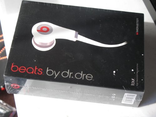 Monster Beats By Dr. Dre Tour Mobile Ear Headphones White Color No Microphone