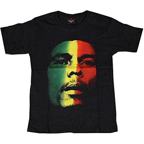 (リトルウッド) LittleWood BOB MARLEY ボブマーリー ラスタ カラー 半袖Tシャツ[T292]