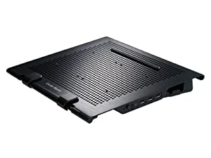 Cooler Master NotePal U Stand - Ultrabook/MacBook Cooling Stand with 3 USB Ports and 2 Configurable Fans (R9-NBS-USTD-GP)