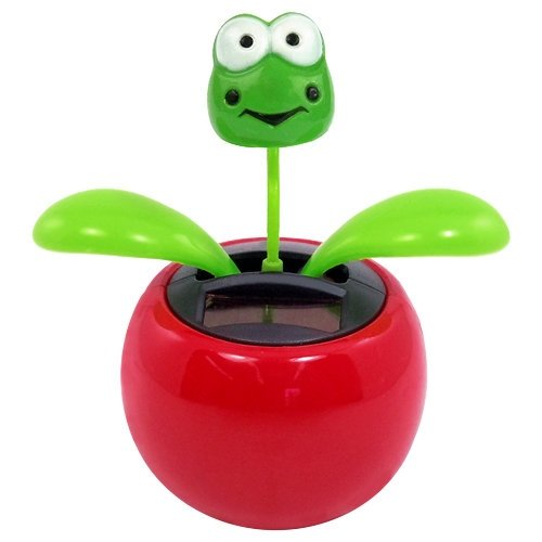 Solar Dancing Flower - Frog (Colors May Vary) - 1