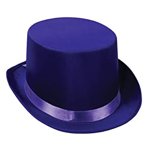 Satin Sleek Top Hat (purple) Party Accessory (1 count) by The Beistle Company