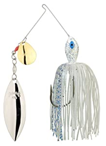 Strike King Premier Pro-Model Spinnerbait - Colorado/Willow (Blue Glimmer Shad/Gold-Silver Blades, 0.1875-Ounce)