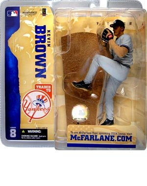 McFarlane Toys, MLB Series 8 Figure, Kevin Brown New York Yankees Gray Jersey - 1