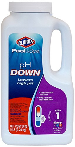 Clorox Pool&Spa 10005CLX pH Down, 5-Pound