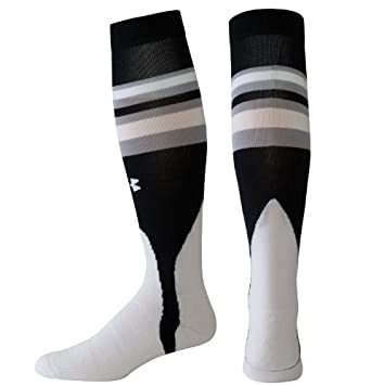Buy Under Armour Baseball Socks Black Red by Under Armour