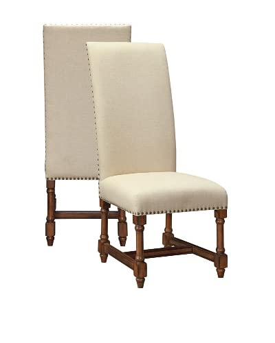 Coast To Coast Set of 2 Parker Dining Chairs, Ivory