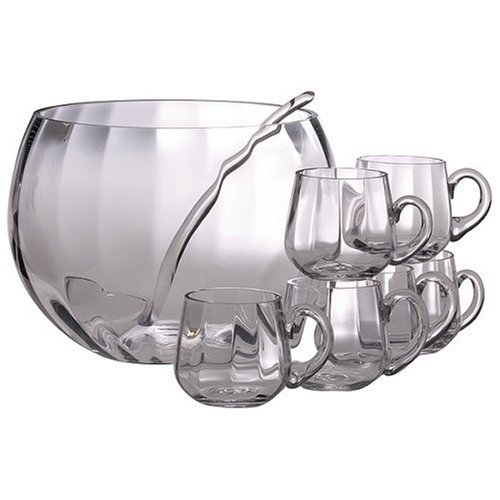 Simplicity Glass 8 Piece Punch Bowl