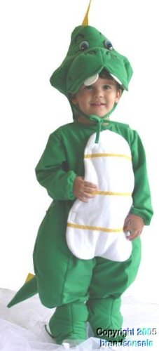 Toddler Green Dragon Halloween Costume (Size: 6)