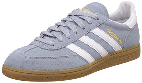 Adidas Spezial, Scarpe da Ginnastica Basse Unisex - Adulto, Grigio (Light Grey/Ftwr White/Gold Met), 41 1/3 EU