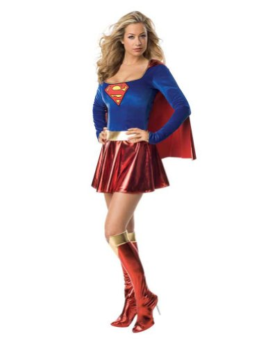 Supergirl 1Pc Adult Medium Halloween Costume - Adult Medium