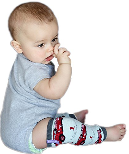 Huggalugs Baby Vintage Firetruck Newborn Leg Warmers