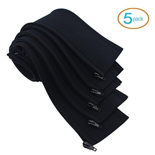 moreteam cable management sleeve 5 pack 20 39 39 adjustable premium quality neoprene cord. Black Bedroom Furniture Sets. Home Design Ideas