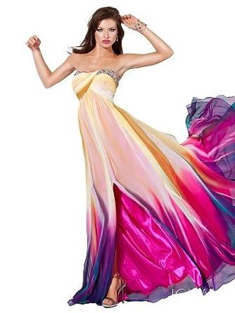 vibant prom dress