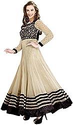 DHAWANI MARKETING CREAM DESIGNER DRESS MATIREAL
