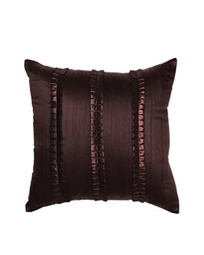 Bandhini Homewear Design Pleated Lines Throw Pillow, Chocolate