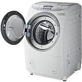 パナソニック 9.0kg ドラム式洗濯乾燥機【左開き】 NA-V1500L-W
