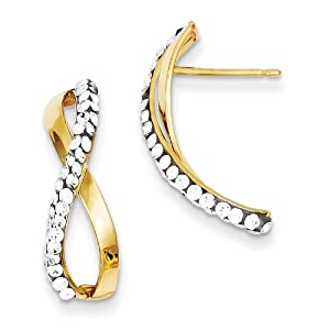 14k Swarovski Elements Post Earrings - JewelryWeb
