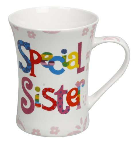 Quality fine china 'Special Sister' gift mug in presentation box, ideal gift for her (LP67021).
