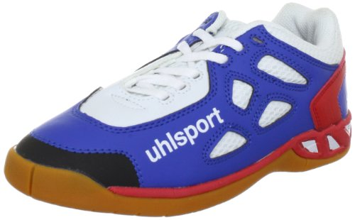 Uhlsport PANTERA Junior Sports Shoes - Indoors Unisex-Child Blue Blau (blau/rot/weiss 01) Size: 30