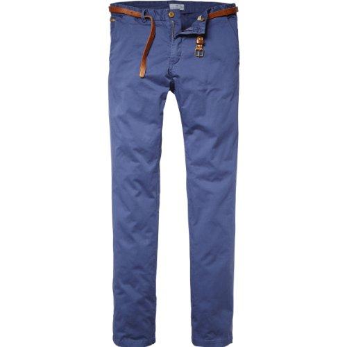 Scotch & Soda Basic Slim Fit Men's Trousers Marine W30INxL34IN