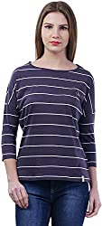 TSAVO Women's Regular Fit Top (1213_GREY, Grey, X-Small)