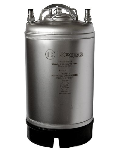 Kegco Home Brew Beer Keg - Ball Lock 3 Gallon Strap Handle - Brand New