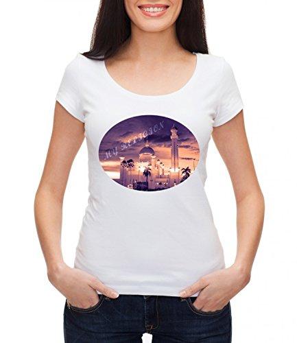 My Religion Women's MEGAN Crew Neck T-shirt Bianco X-Large