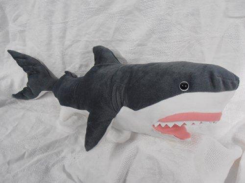 "Great White Shark Plush Stuffed Animal Toy 30"" Long front-292891"