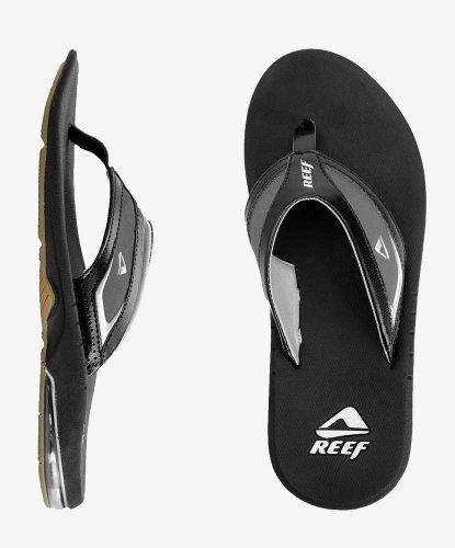 Reef Men'S Springtide Sandals- Black/Black/White (9 D(M) Us) front-38031