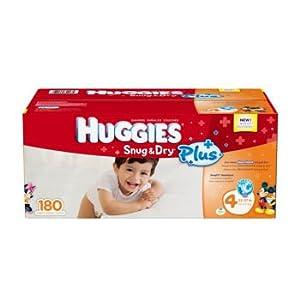 Huggies® Snug & Dry Plus Diapers Size: 4 180 Bulk Pack
