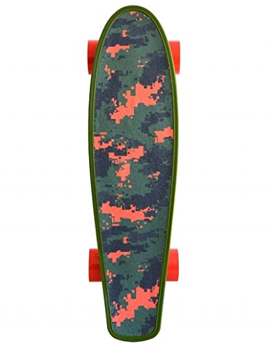 Kryptonic Kryptonic Torpedo Print Design Camouflage Skateboard Retro Grafica, Multicolore