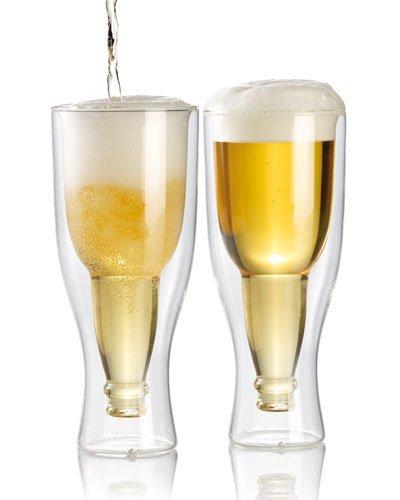 Pack de 2 verres à bière à double paroi - 20 cl